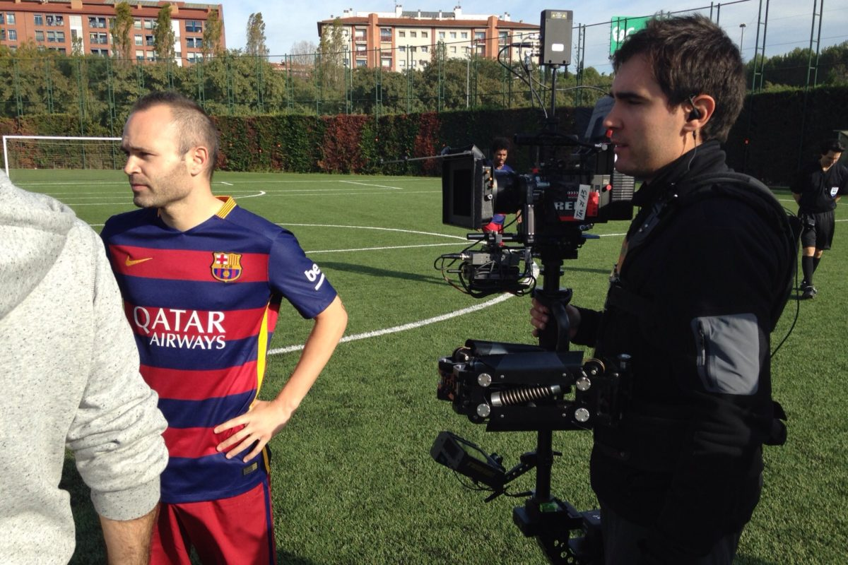Steadicam TV commercial FC Barcelona